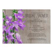 Rustic Campanula Bridal Shower Invitations Invites