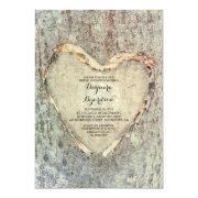 Rustic Carved Heart Tree Vintage Bridal Shower