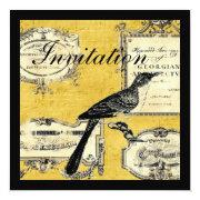 Rustic Chic Country Cottage French Bird Invitations