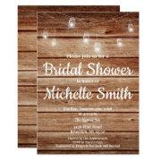 Rustic Country Hanging Lights Wood Bridal Shower