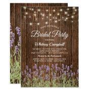 Rustic Country Lavender Lights Bridal Shower