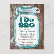 Rustic Country Mason Jar I Do Bbq Postinvitations