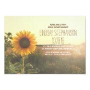 Rustic Country Sunflower Bridal Shower Invites