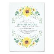 Sunflower bridal shower invitations funbridalshowerinvitations rustic country sunflowers wreath bridal shower filmwisefo