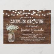 Rustic Couples Shower Country Barn Wedding Shower Invitation