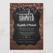 Rustic Couples Shower Invitation