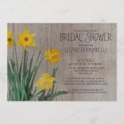 Rustic Daffodil Bridal Shower Invitations