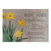Rustic Daffodil Bridal Shower Invitations