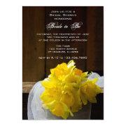 Rustic Daffodils Barn Wood Bridal Shower Invite