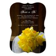 Rustic Daffodils Barn Wood Country Bridal Shower