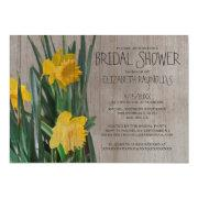 Rustic Daffodils Bridal Shower Invitations