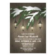 Rustic Evergreen Lantern Bridal Shower