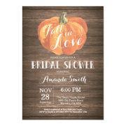 Rustic Fall Bridal Shower Invitation