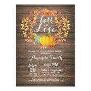 Rustic Fall Bridal Shower Invitation Invitations