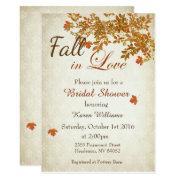 Fall in love bridal shower invitations funbridalshowerinvitations rustic fall in love bridal shower invitation filmwisefo