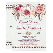 Rustic Floral Boho  Bridal Shower Invite
