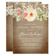 Rustic Floral Burlap And Lace Bridal Shower