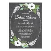 Rustic Floral Chalkboard Bridal Shower