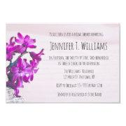 Rustic Floral Purple Bridal Shower