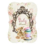 Rustic Floral Teddy Bear Bridal Shower