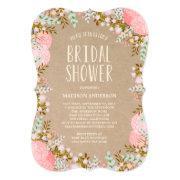 Rustic Flowers | Bridal Shower