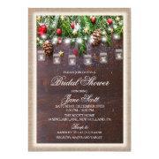 Rustic Holiday Bridal Shower Invitation