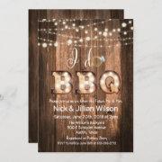 Rustic I Do Bbq Couples Shower Invitation