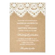 RUSTIC LACE | WEDDING INVITATION