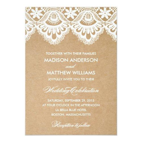 Rustic Lace | Wedding Invitations