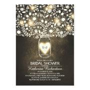 Rustic Lights Mason Jar Bridal Shower
