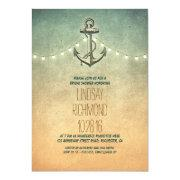 6ea81a4f0de Rustic Lights Nautical Bridal Shower Invitations