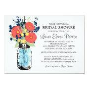 Rustic Mason Jar Gerbera Daisies Bridal Shower