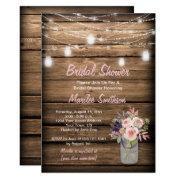 Rustic Mason Jar Wildflowers Barn Bridal Shower