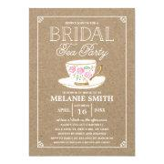 Rustic Modern Bridal Tea Party | Bridal Shower Invitation