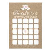 Rustic Modern Tea Party Bingo | Bridal Shower