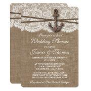 Rustic Nautical Anchor Beach Wedding Shower
