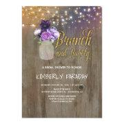 Rustic Purple Floral Mason Jar Bridal Shower
