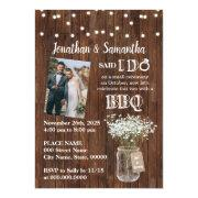 Rustic Said I Do Barbeque After Wedding Party Invitation