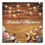 Rustic Starfish Beach Light Tropical Bridal Shower
