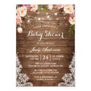 Rustic String Lights Lace Floral Bridal Shower