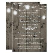 Rustic String Lights Mason Jars Couples Shower