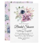 Rustic Succulent Floral Bloom Bridal Shower