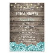 Rustic Succulent String Lights Bridal Shower