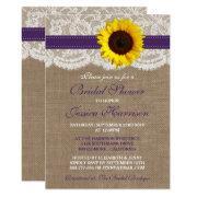 Rustic Sunflower, Burlap & Lace Bridal Shower