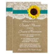 Rustic Sunflower, Kraft & Lace Bridal Shower