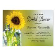 Rustic Sunflower Mason Jar Bridal Shower Wedding