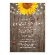 Rustic Sunflower String Lights Wood Bridal Shower