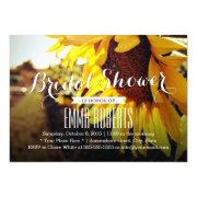 Rustic Sunflower Summer Bridal Shower