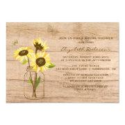 Sunflower bridal shower invitations funbridalshowerinvitations rustic sunflowers bridal shower filmwisefo