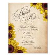 Rustic Sunflowers Bridal Shower